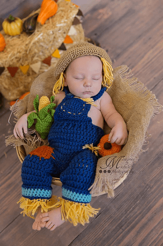 Baby Halloween Outfit Crochet Pattern by AMK Crochet
