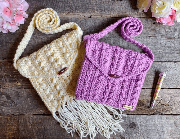 Bohemian Chic Crochet Purse Pattern by Crazy 4 Crochet Momma