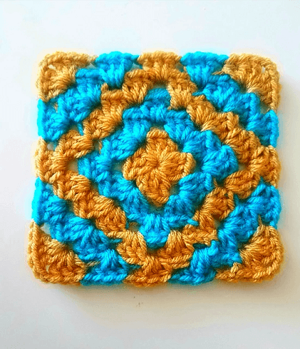 Boho Diamond Crochet Square Pattern by Six Hampton Crochet