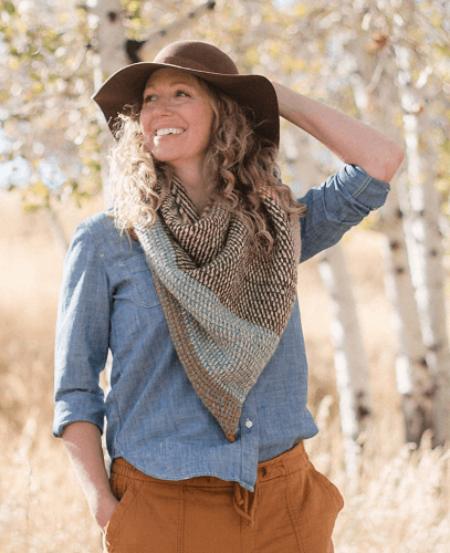 Brushland Tunisian Crochet Scarf Free Pattern by Make And Do Crew