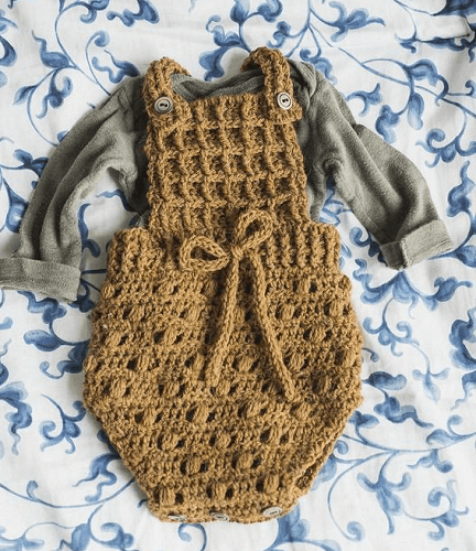 Butterscotch Baby Onesie Crochet Pattern by Megmade With Love