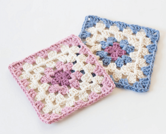 Classic Granny Square Crochet Pattern by Hopeful Honey