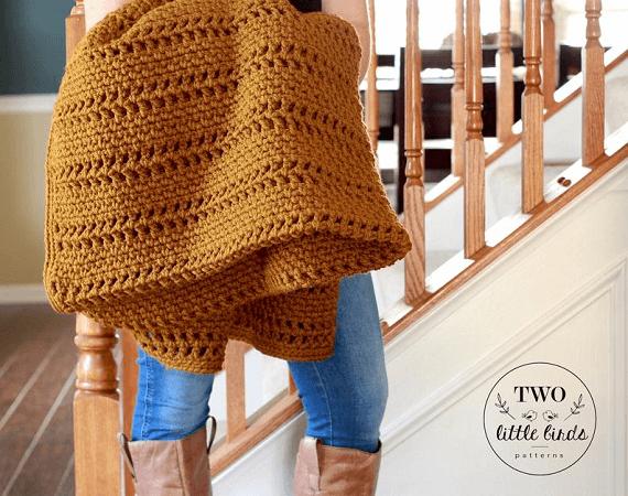 Crochet Afghan Pattern by TLB Patterns