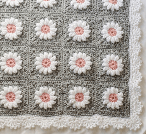 Crochet Baby Afghan Pattern by Crochet 365 Knit Too