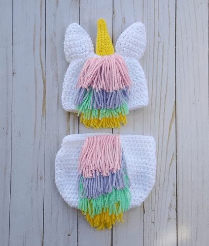 Crochet Baby Unicorn Outfit Pattern by Heathers Boutique US