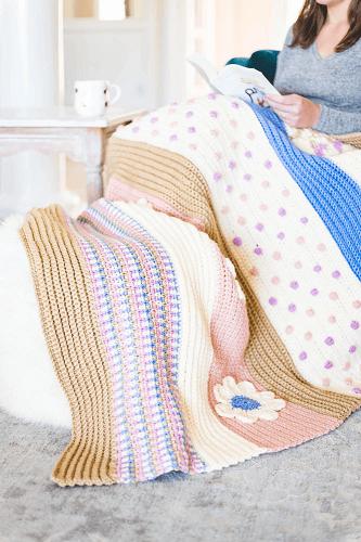 Crochet Bloom AfghannThrow Pattern by Sewrella