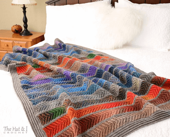 Crochet Boho Afghan Pattern by The Hat And I