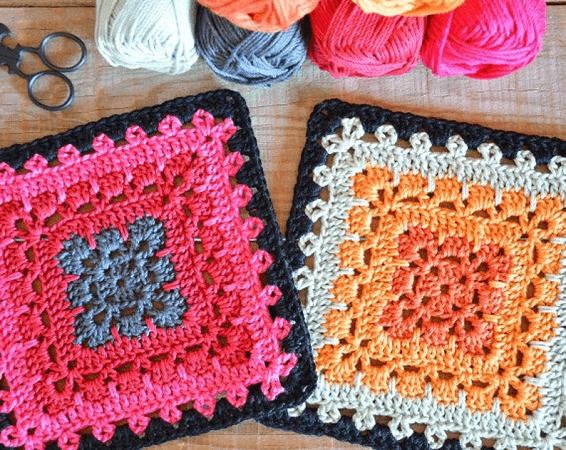 Crochet Boho Square Pattern by Crochet Objet