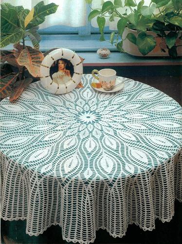 Crochet Circular Tablecloth Pattern by Home Decor Pattern PDF