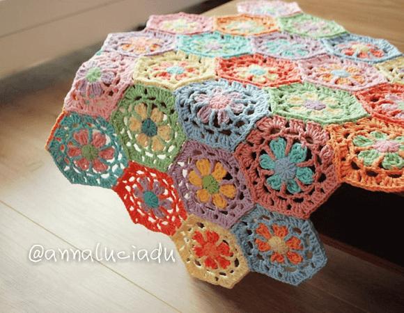 Crochet Flower Tablecloth Pattern by Emma Crochet Design 4 U