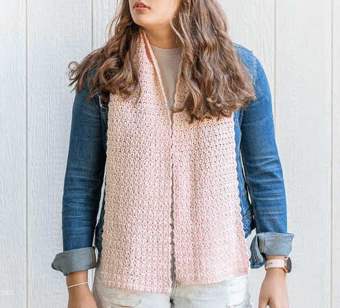 Crochet Griddle Stitch Scarf Crochet Pattern by Easy Crochet
