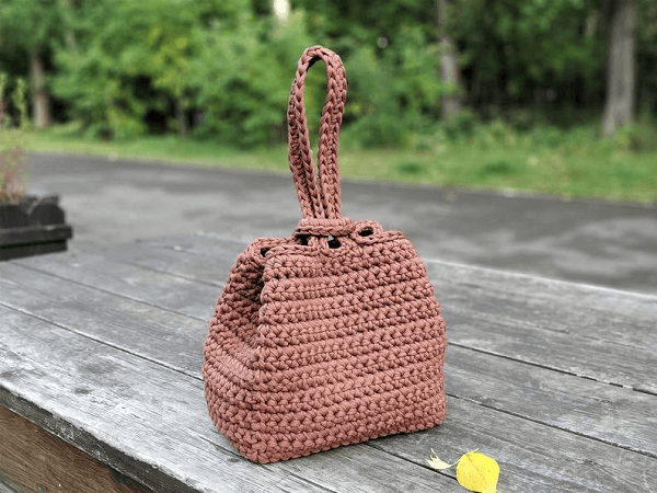 Crochet Handbag Purse Pattern by Kseniya Design