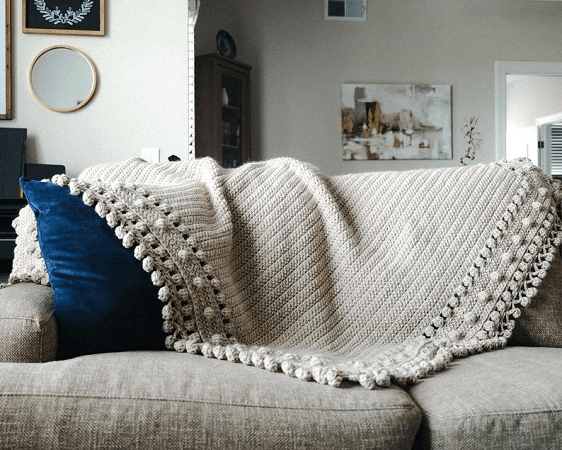 Crochet Modbob Throw Pattern by The Cozy Knot Crochet