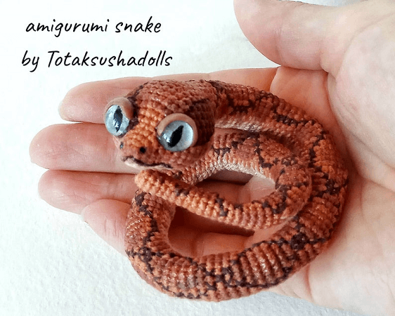 Crochet Realistic Snake Pattern by Tota Ksusha Dolls