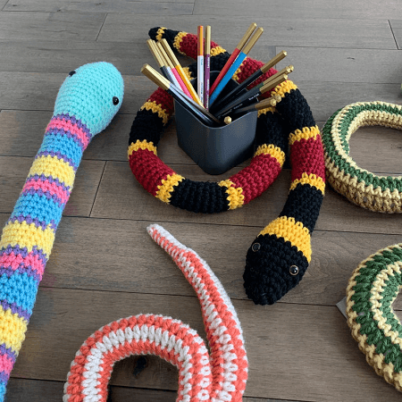 Crochet Snakes Pattern by Tiger Road Crafts