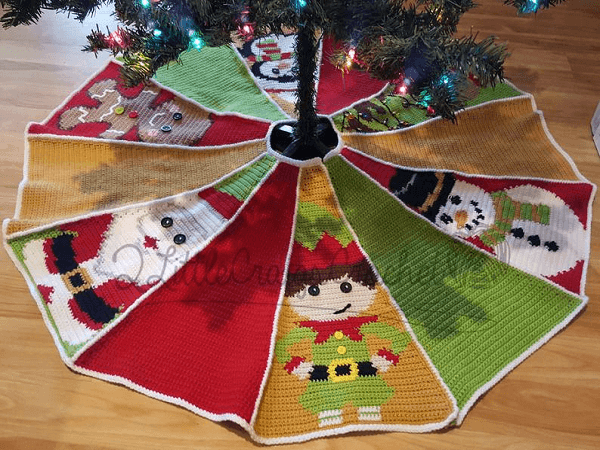 Crochet Tree Skirt Pattern by 2 Little Craigs Crochet