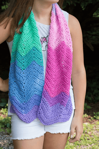 Crochet Unicorn Scarf Mandala Free Pattern by Easy Crochet