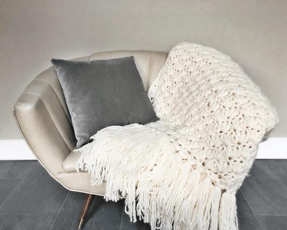 Crochet Winter Fluff Afghan Pattern by Ruby Webbs