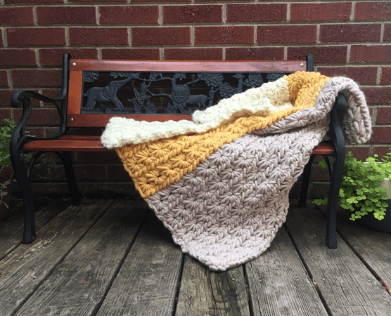 Crochet Winter Jasmine Throw Pattern by Arrow And Archer Co