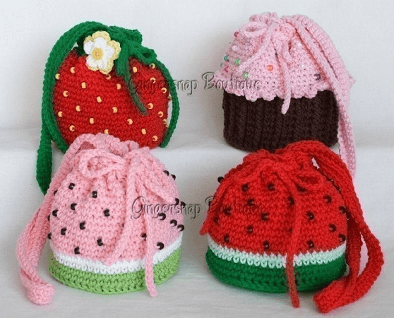 Crochet Yummy Purses Pattern by Gingersnap Boutique