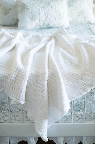 Easy Crochet Afghan Pattern by Kristine In Between