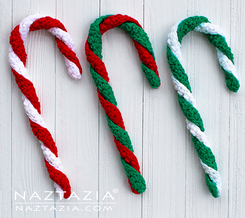 How To Crochet A Candy Cane by Naztazia