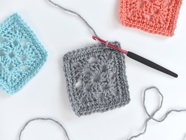 Easy Granny Square Crochet Pattern by The Spruce Crafts