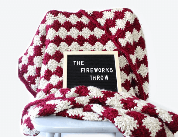 Fireworks Throw Crochet Pattern by The Blue Elephants