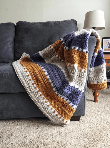 For The Love Of Texture Crochet Throw Pattern by This Pixie Creates