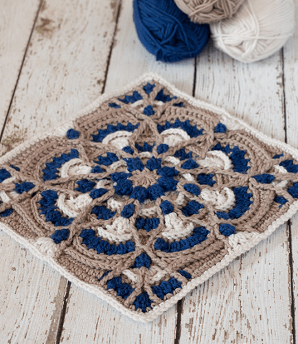 Free Crochet Square Pattern by Kirsten Holloway Designs