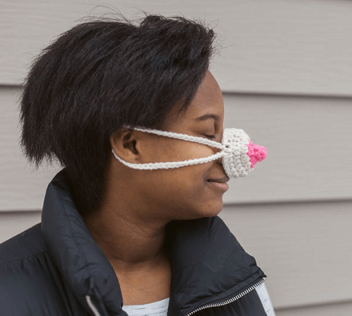 Funny Nippy Nose Warmer Crochet Pattern by Maggie's Craft Sale