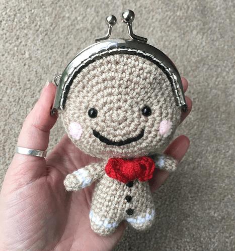 Coin Purse Gingerbread Man Crochet Pattern by Lau Loves Crochet