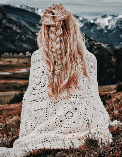 Granny Square Afghan Crochet Pattern by Darling Jadore
