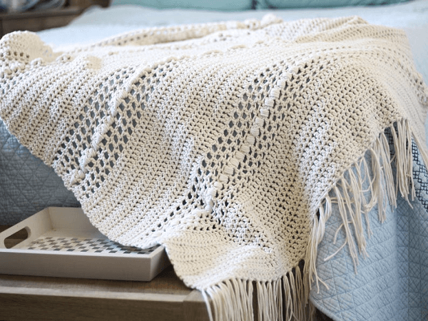 Hygge Throw Blanket Crochet Pattern Hooked On Tilly