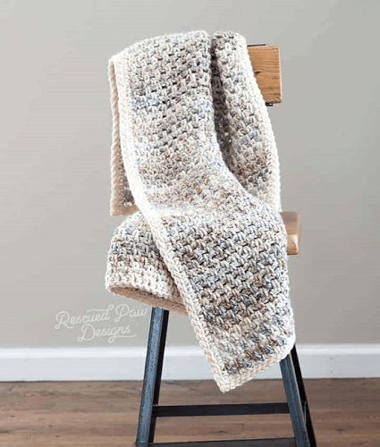 Jane Crochet Throw Pattern by Rescued Paw Designs