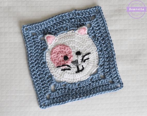 Kitty Cat Crochet Square Pattern by Sewrella