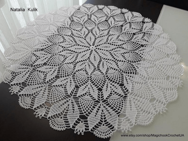 Lace Tablecloth Crochet Pattern by Magic Hook Crochet UA