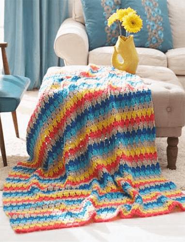 Larksfoot Crochet Afghan Pattern by Mary Maxim