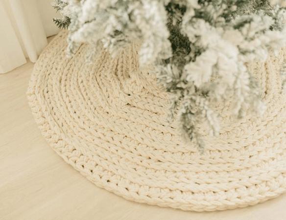 Nordic Christmas Tree Skirt Crochet Pattern by Christina Ann Studios