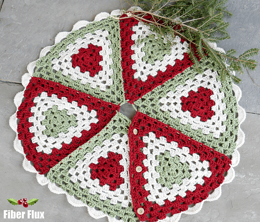 Nostalgic Granny Tree Skirt Crochet Pattern by Fiber Flux