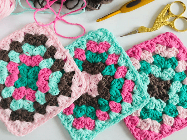 Perfect Granny Square Crochet Pattern by Lullaby Lodge