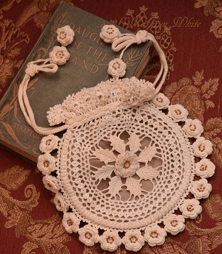 Rings And Roses Irish Crochet Purse Pattern by Crochet N Beads