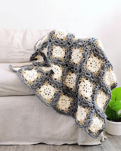 Sand Dollar Free Crochet Afghan Pattern by Rohn Strong
