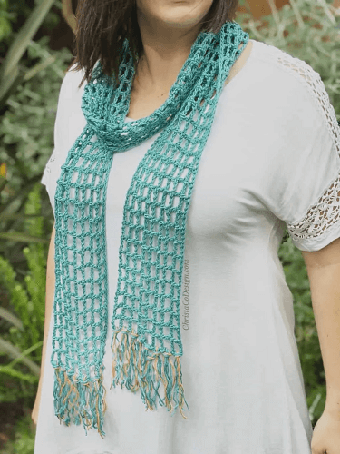 Skinny Summer Scarf Free Crochet Pattern by Christa Co Design