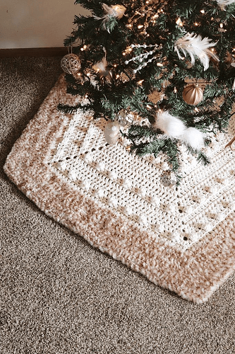 Solstice Tree Skirt Crochet Pattern by TL Yarn Crafts
