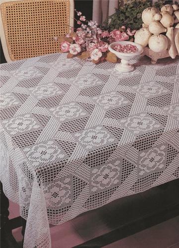 Tablecloth Crochet Pattern by PDF Knitting Crochet