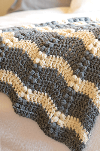 Vintage Lola Crochet Ripple Throw Pattern by Mama In A Stitch