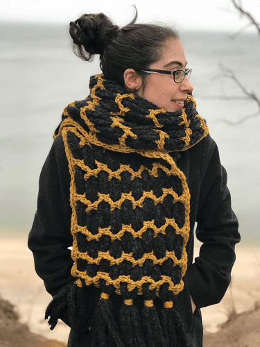 Weave And Spin Free Crochet Scarf Pattern by Fiddle Knits