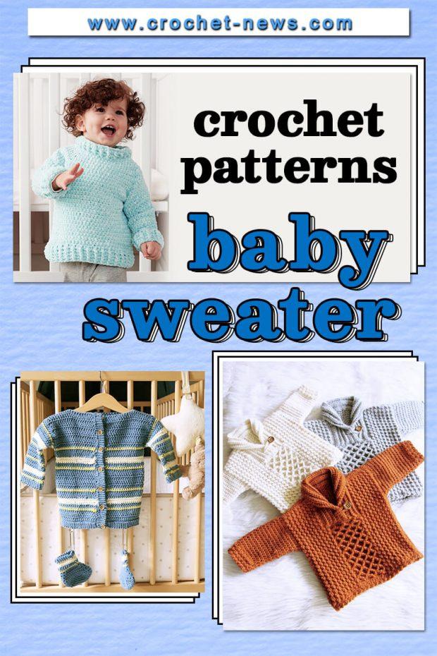 CROCHET BABY SWEATER PATTERNS