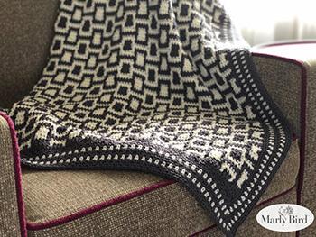 Chic Modern Mosaic Blocks Throw Pattern By Marly Bird